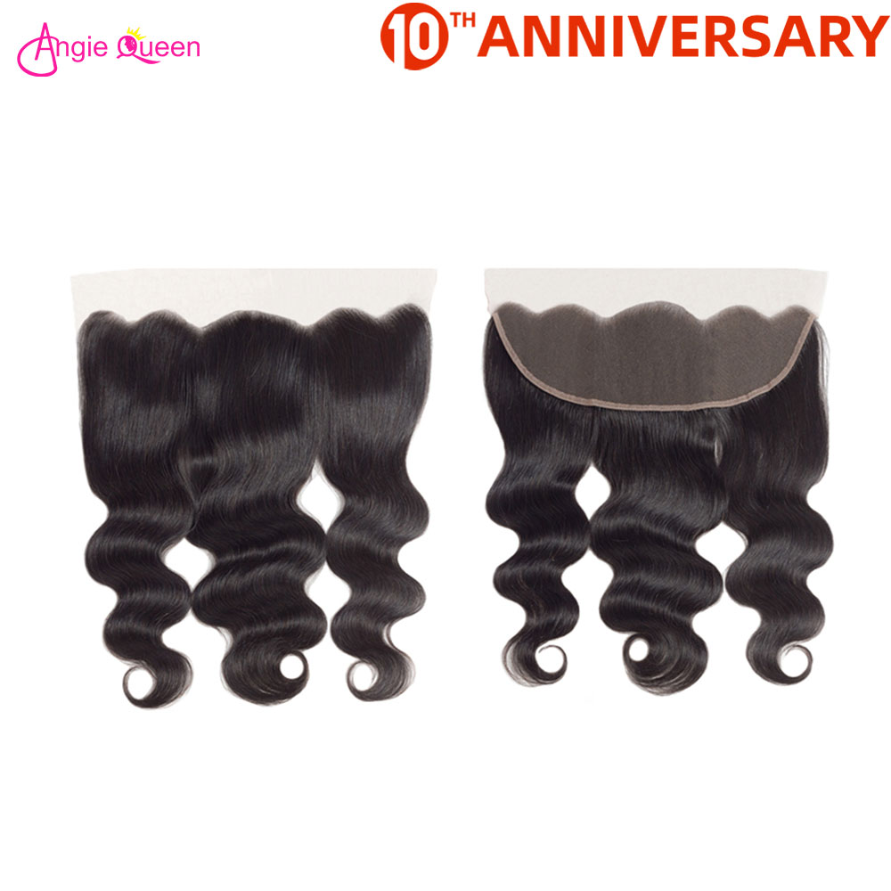 Angie Queen Body Wave Lace Frontal Brazilian Non Remy Hair Frontal 150% Lace Frontal 8-20 Inch Hair Frontal Free Part Human Hair