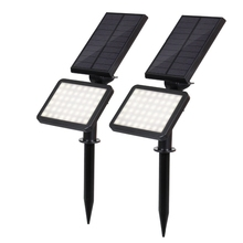 1/2 Pcs 48LED Solar Powered Spotlight Garden Lawn Lamp Landscape Lights Outdoor Waterproof