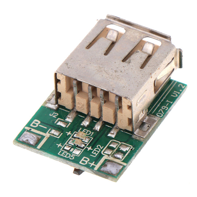 1PC Micro 5V 1A Step-Up Power Module Li-Po Li-ion Lithium Battery Charging Protection Board Booster Converter USB DIY Charger