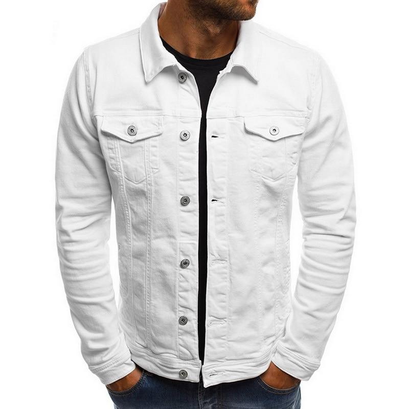 2019 Autumn Fashion Slim Denim Jackets Men Casual Windbreaker Streetwear Hip Hop Solid Jeans Coat Cotton Pockets Chaqueta Hombre