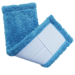1pc Mop Head Blue Household Cleaning Microfiber Mop Head Cover Replace Pad Mat Cap Refill for Indoor