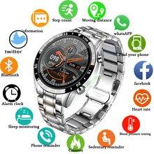 LIGE 2021 nowy inteligentny zegarek mężczyźni w pełni dotykowy ekran Fitness sportowy zegarek IP68 wodoodporny Bluetooth dla Android ios inteligentny zegarek męskie