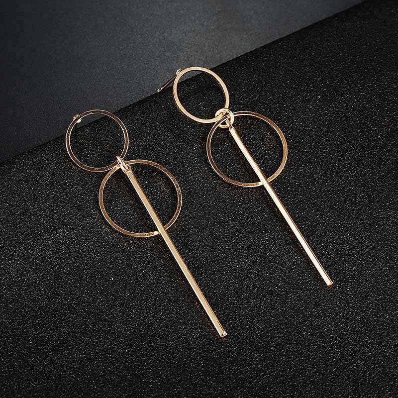 카터 리사 패션 우아한 기하학적 원형 원형 후프 귀걸이 더블 중공 원형 패션 귀걸이 여성을위한 절묘한 선물