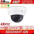 Dahua оригинальный SD22404T-GN 4MP POE 2,7 ~ 11 мм 4X зум PTZ H.265 WDR ICR IVS распознавание лица IP66 IK10 Onvif сеть CCTV IP камера
