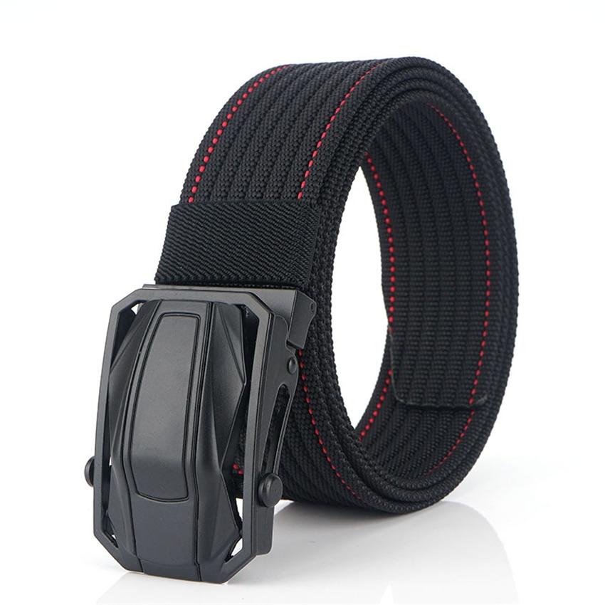 High Quality Military Equipment Canvas Belt For Men Tactical Designer Jeans Belt Nylon Strap Sports Car Design Buckle Waist Belt