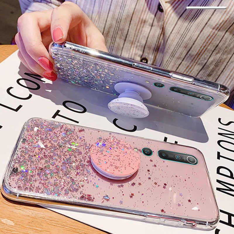 Glitter Bling Case Voor Xiaomi Redmi Note 9S 8T 8 Pro 7 6 Case Stand Houder Cover Voor xiomi Redmi 7A S2 K20 K30 Mi Note 10 9T 9 8