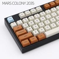Mars landing kt1 ball cap PBT thermal sublimation key cap filco 87 104 customized mechanical key cap