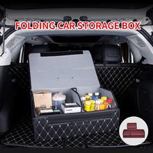 Auto Trunk Organizer Lagerung Box Faltbare Rücksitz Organizer Trunk Bag Werkzeug Tasche PU Leder Verstauen Aufräumen Auto Zubehör cheap yueyi CN (Herkunft) Stamm Box Tasche