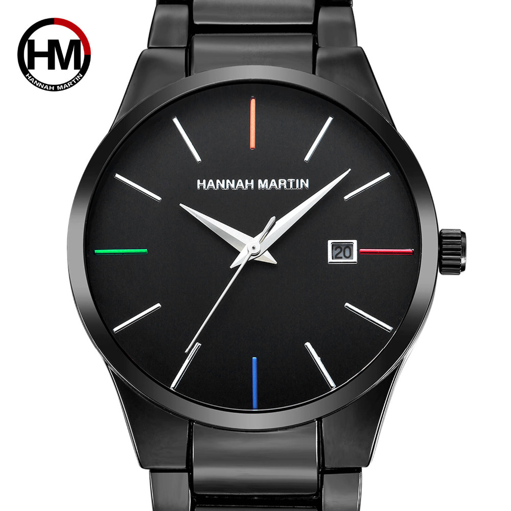 Men Top Brand Luxury Quartz Waterproof Creative Watches Men's Stainless Steel Band Date Calendar IP Vacuum Plating Reloj Hombre