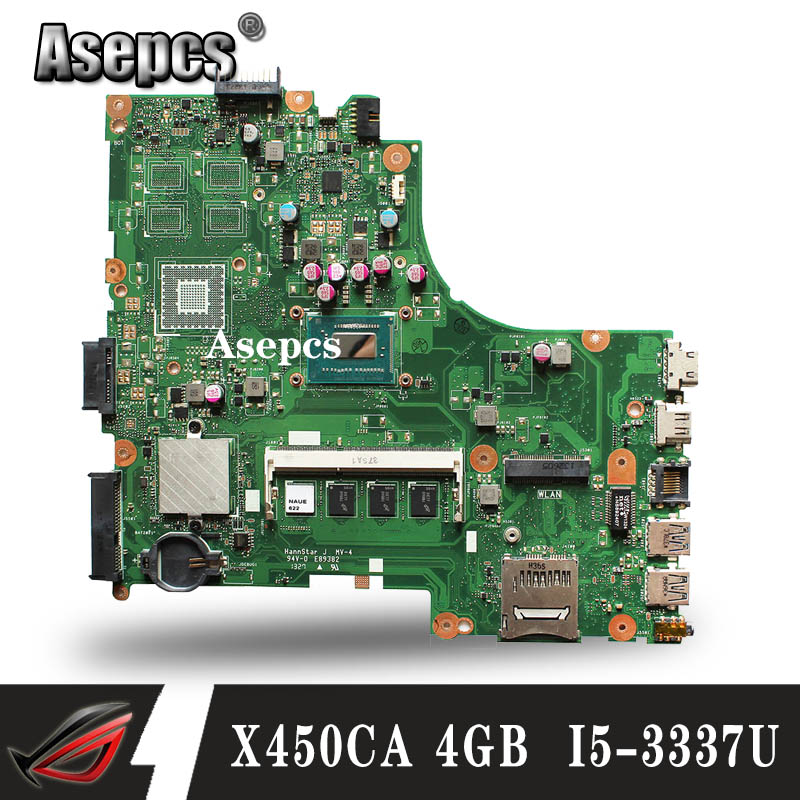Akemy For Asus X450CC X450CA A450C X450C Motherboard With I5-3337U Cpu 4GB Memory