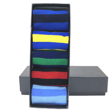 MYORED drop shipping hediye çorap penye pamuk klasik çizgili iş rahat streetwear renkli Calcetines de hombre