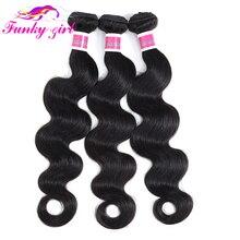 Funky dziewczyna peruwiański włosy typu body wave włos wiązki wyplata oferty naturalny kolor pasmo ludzkich włosów nie doczepy z włosów typu remy 1/3/4 sztuk