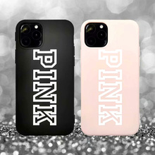 Fashion Brand PINK Soft Silicon TPU Case for iPhone 11 Pro Max phone Case For iphone X XR Xs Max 8 7 6 6s plus Secret Back Cover new iphone case for iphone 11 for iphone11 pro max 5 8 inches 6 1 inches 6 8 inches 6 6s 7 8 plus ix xr max x fashion back cover