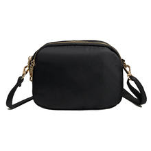 High Quality Women Small Shoulder Bag Nylon Crossbody Bags Ladies Handbag Double Zipper 5 Colors
