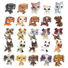 Lps pet shop de brinquedos de animais, cachorro, collie, cocker, grande dinamarquês, husky, figura original, coleção