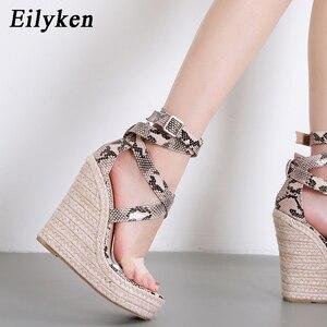 Image 4 - Eilyken sandálias plataforma, serpentina, sapatos de salto alto aberto, casual, com fivela, plus size 35 42