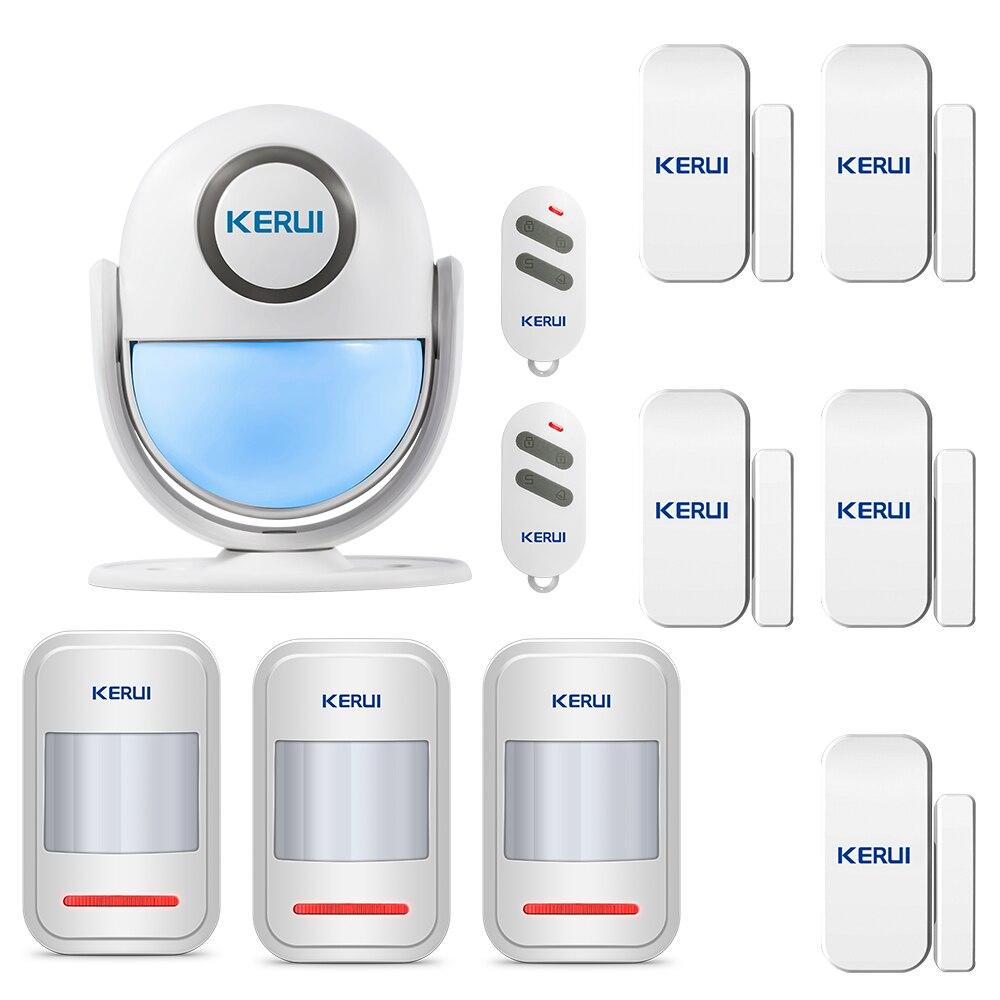 KERUI WP6 Home Security APP Control PIR Motion Alarm Door Bell Burglar Sensor Detector Welcome Doorbell SOS 125dB Alarm Systems