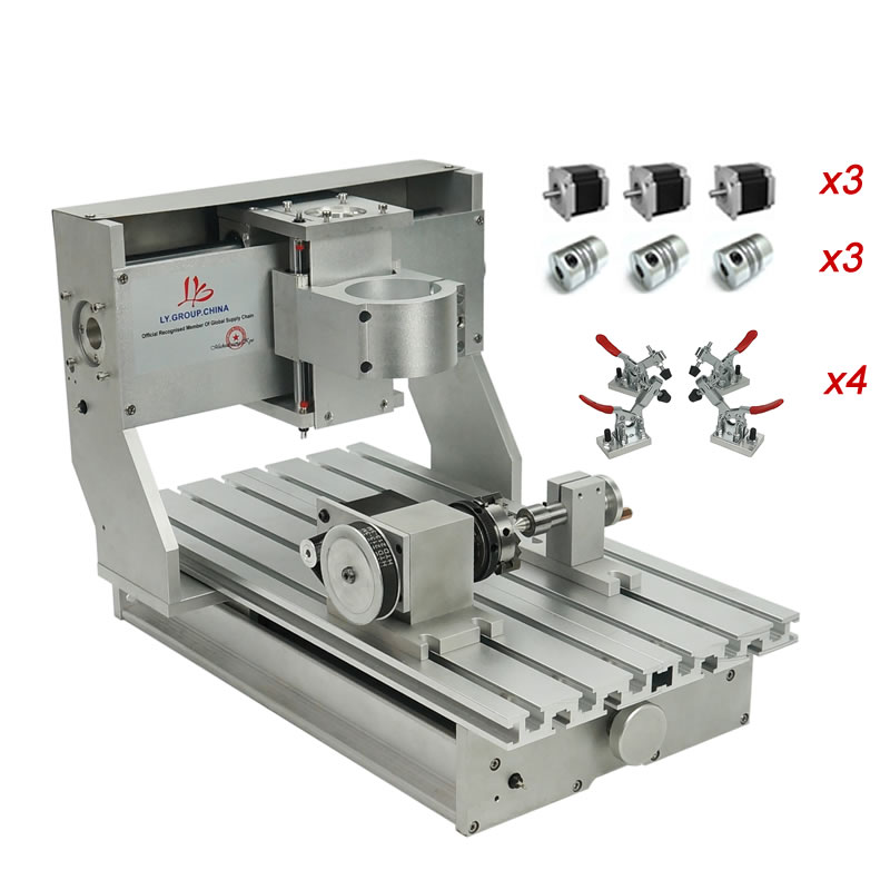 DIY Cnc 3020 Frame 3axis 4axis For Cnc Engraving Milling Machine Ball Screw Limit Switches With Nema23 Stepper Motors Couplings