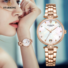 STARKING Luxury Women Watches Rose Gold Stainless Steel Diamond Ladies Watches Gift Automatic Mechanical montre femme Waterproof
