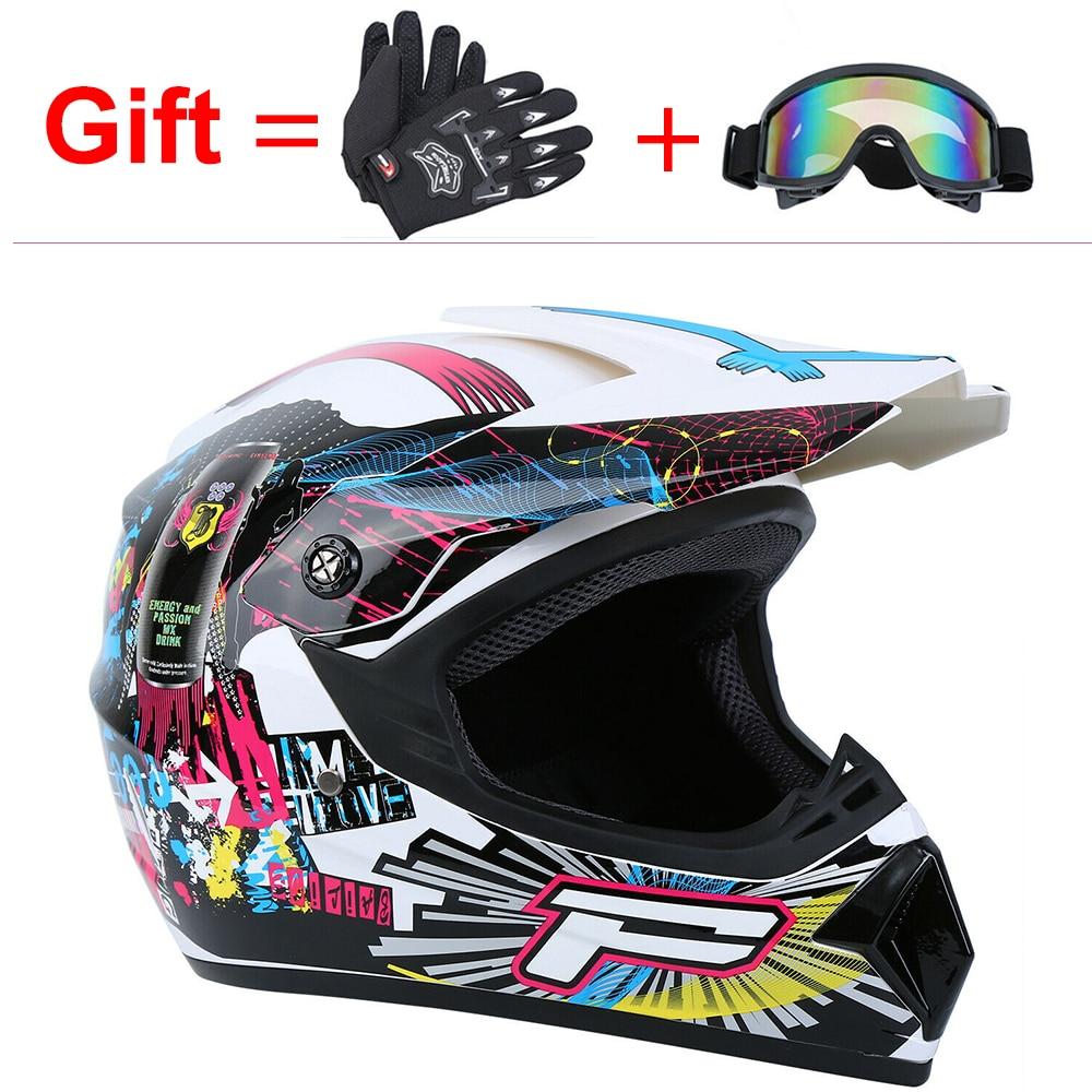 Casque casque moto cross professionnel course moto cross casque tout-terrain avec lunettes de Cross casque moto moto rbike adulte casque moto enfant
