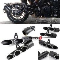 Toce universal modificado tubo de escape da motocicleta silenciador ponta para yamaha r1 r6 r15 fz1 mt09 corrida moto silenciador atv|Escapamento e sistemas de exaustão|   -