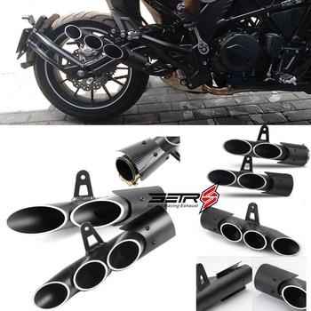 цена на Universal Toce Modified Motorcycle Exhaust Tip Muffler Pipe For YAMAHA R1 R6 R15 FZ1 MT09 Racing Escape Moto Silencer ATV
