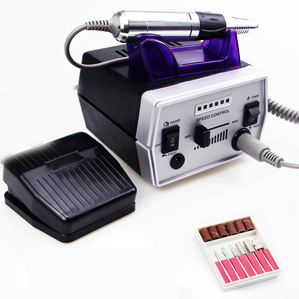 Electric Nail Drill Machine 35000rpm Profession Manicure Pedicure Machine Milling Cutter Accessories Nail File Manicure Tool Kit