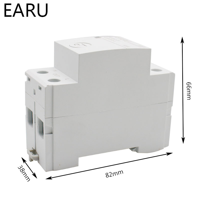Hbbf74b7659674490845aa639734f2507B - 2P Din Rail WIFI Circuit Breaker Smart Timer Switch Relay Remote Control By EWeLink APP Smart Home Compatiable With Alexa Google
