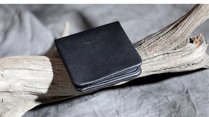 Image 5 - PNDME high quality soft genuine leather mens short wallet casual simple youth full cowhide thin credit card holder black purse