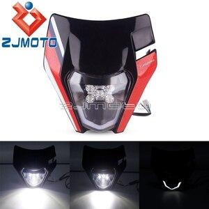 Image 5 - Çift spor motosiklet LED far başkanı lamba ışığı için EXC SXF SX XC XCW XCF 125 150 250 350 450 530 690 SMR Enduro Motocross