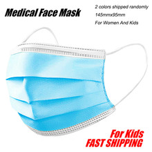 Medical Face Mask Meltblown Cloth Disposable Face Mask 3 Layer Medical Dental Earloop Activated Carbon For Women And Kids