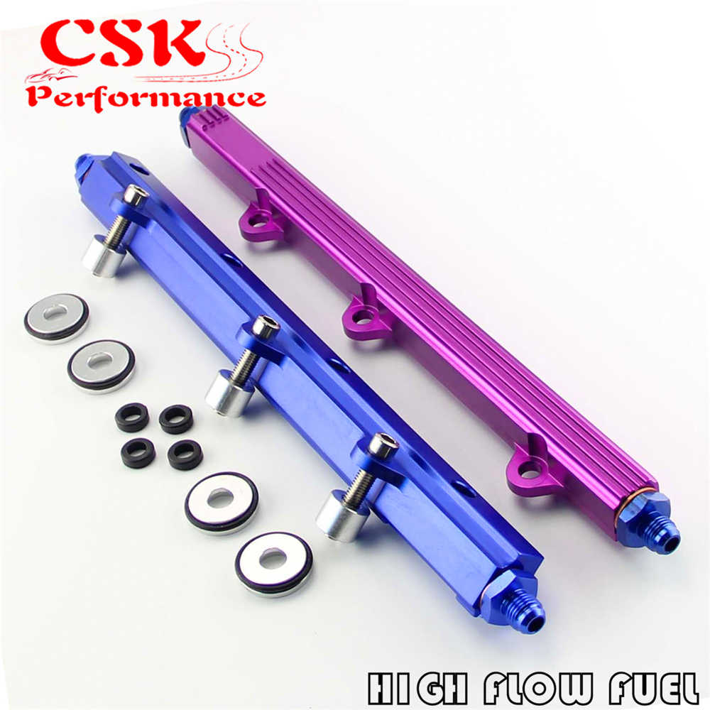 High Flow Billet Fuel Rail Kit Fit Voor 92-96 Mitsubishi Lancer Evolution Evo 1 2 3 4G63 Paars/Blauw