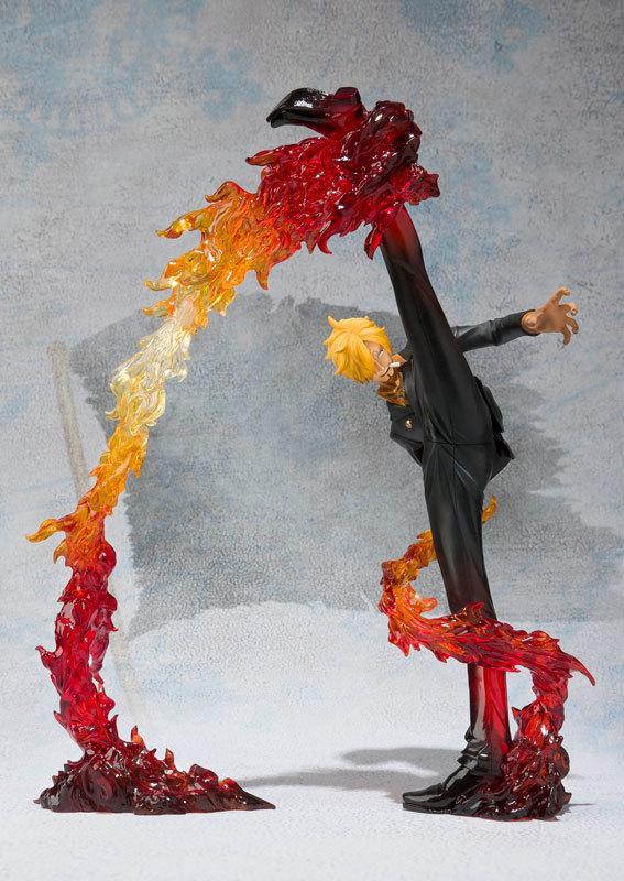 Экшн фигурка sanji fire battle ver из ПВХ 17 см