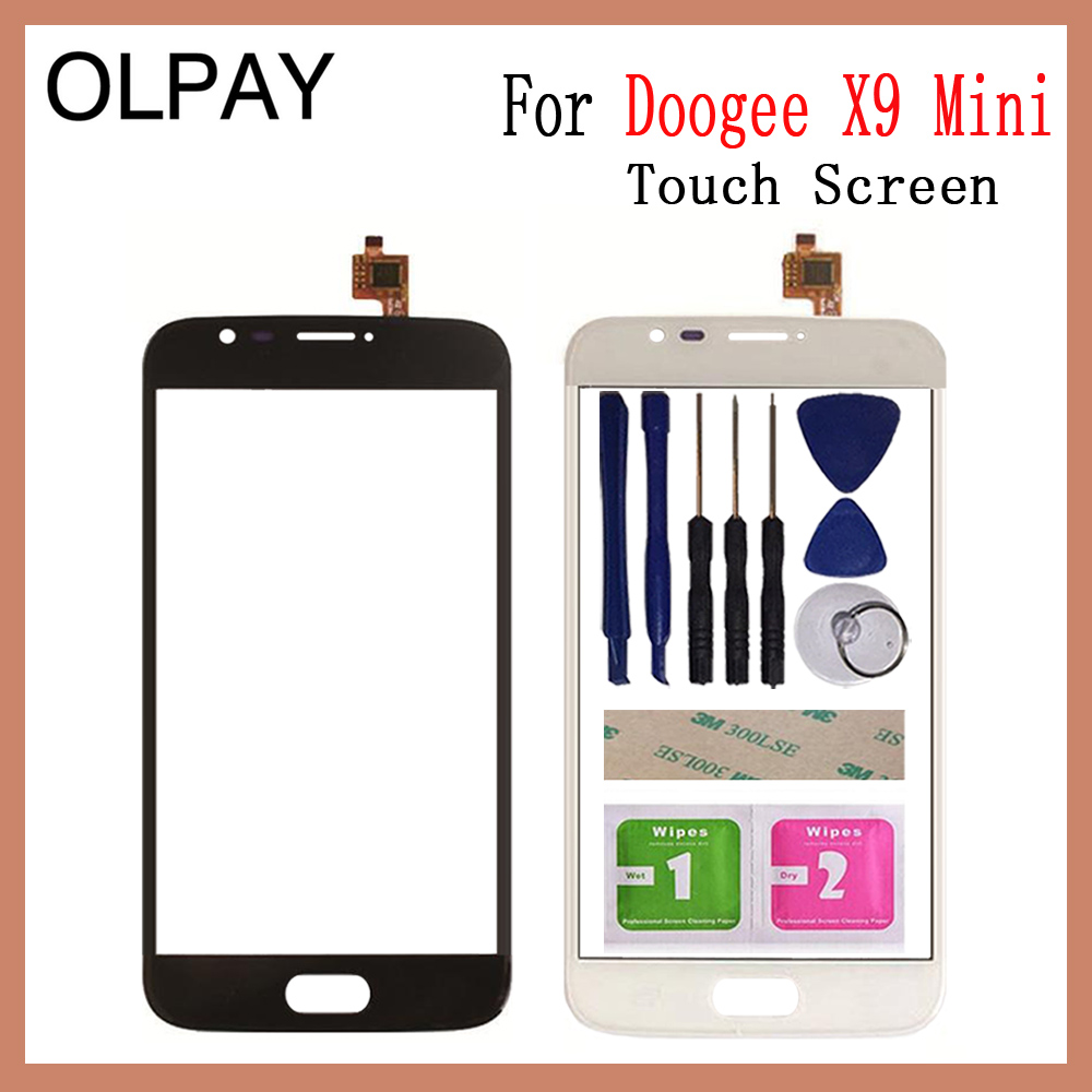 OLPAY 5.0''Phone Mobile For Doogee X9 Mini Touch Screen Touch Digitizer Panel Front Glass Tools Free Adhesive+wipes