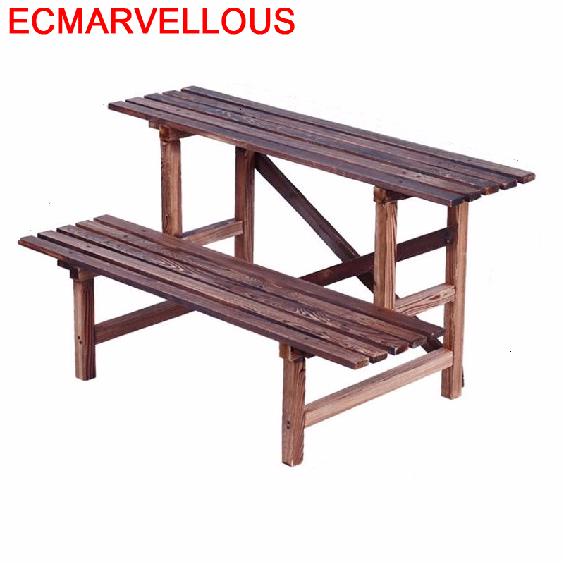 Wooden Shelves For Estanteria Macetas Estante Terraza Mueble Para Plantas Shelf Rack Stojak Na Kwiaty Outdoor Flower Plant Stand
