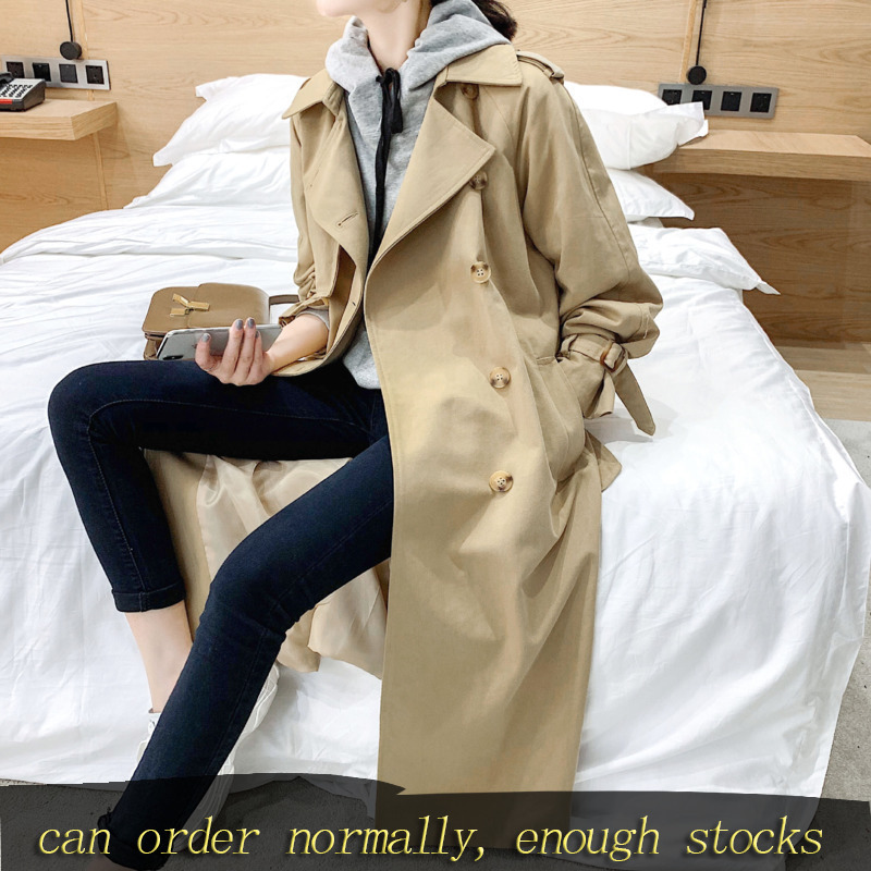LANMREM Can Ship 2020 Spring New Women Clothing Windbreaker Loose Casual Long Coat For Famale Casual Trench Korean Style YH969