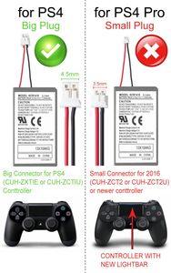 Image 5 - 4 個 2000 6400mah バッテリーパック + usb 充電ケーブルソニーのゲームパッド PS4 バッテリー Dualshock4 ワイヤレスコントローラ充電式電池