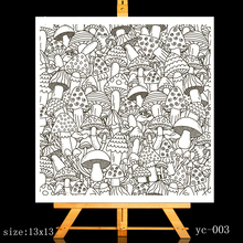 ZhuoAng Big mushroom Clear Stamps/Card Making Holiday decorations For  scrapbooking Transparent stamps 13*13cm