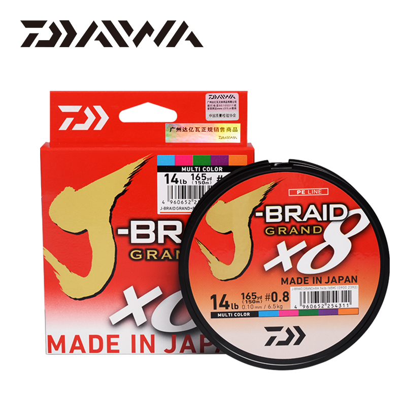 JAPAN DAIWA J BRAID GRAND Fishing Line 135M/150M 8 Strands Braided PE Line for Fishing Tackle 10 20 25 30 35 40 60LB lure lineFishing Lines   -
