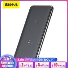 Baseus 10W 3 bobinler kablosuz şarj iPhone 11 X/XS XR çok fonksiyonlu Qi kablosuz şarj pedi yatay/Dikey şarj pedi