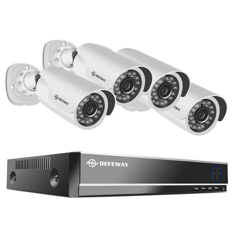 DEFEWAY عدة كاميرا مراقبة فيديو 1080P نظام الدائرة التلفزيونية المغلقة 8CH مراقبة نظام الكاميرا 4 الأمن كاميرا طقم مراقبة الفيديو