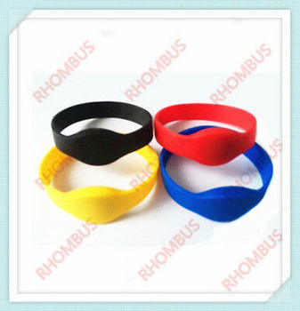 50 pcs 125KHz EM4100 RFID Color Waterproof Silicone Wristband Bracelet Tag