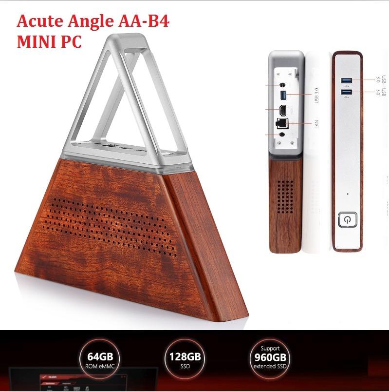 Acute Angle AA-B4 DIY Mini PC Intel Apollo Lake N3450 8GB RAM 64GB EMMC + 128GB SSD 2.4G 5.8G WiFi 1000Mbps BT4.0 PK PIPO X10PRO