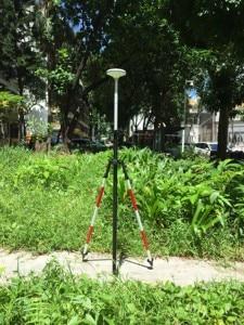 "Image 4 - GPS PoleปรับเทียบวงกลมSpiritระดับTelescopicดึงคาร์บอนไฟเบอร์Rod 5/8 ""× 11สำหรับProfessional Survey GNSSสีโอ๊ค"
