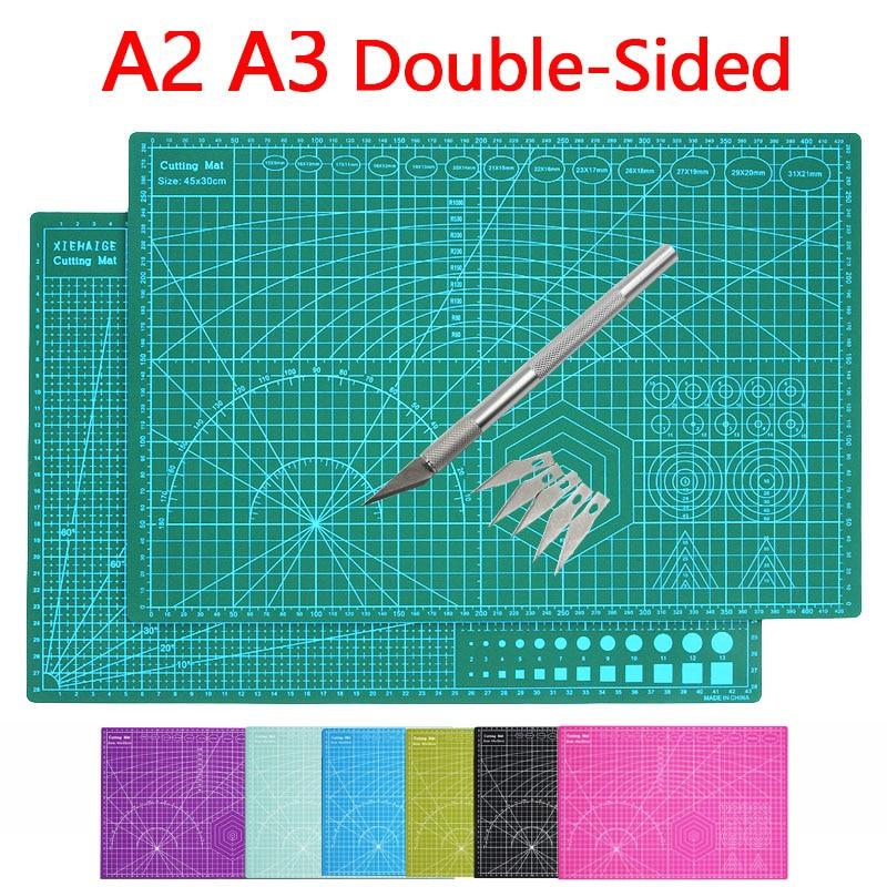 A2 A3 цветной многофункциональный ПВХ самоисцеляющий коврик для резки, разделочная доска, нож для резки бумаги в принтере инструменты для изг...