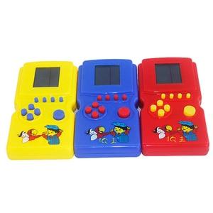 1 sztuk/partia kreatywny klasyczny Tetris ręcznie elektroniczny lcd zabawki zabawna gra cegła Puzzle Puzzle przenośna konsola do gier