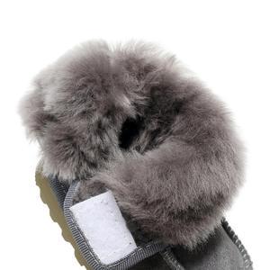 Image 5 - Geanuine Leather Australia Shoes 소년과 소녀를위한 아기 스노우 부츠 Kids Snow Boots 양모 리얼 모피 신발 Children 2020 new
