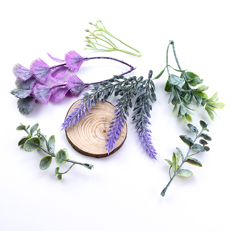 10PCS Artificial Plants Christmas Decorations For Home Wedding Decorative Flowers Wreaths Needlework Craft Materials Diy Gifts