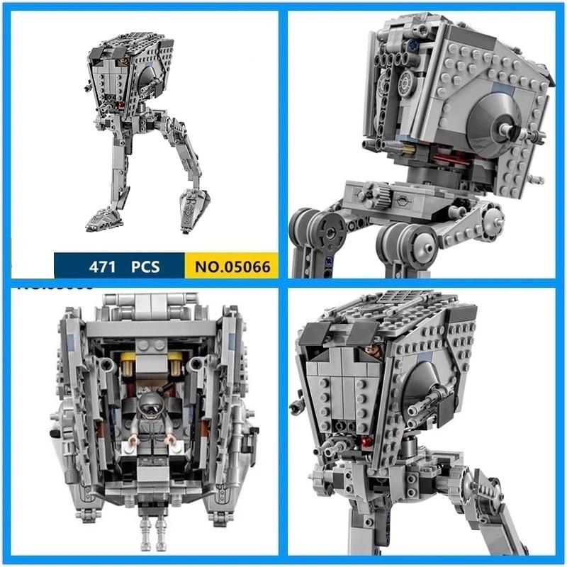 05066 Star Series War The Rogue One AT-ST Set Walker Educational Building Blocks Bricks Compatible Legoinglys With Starwars75153