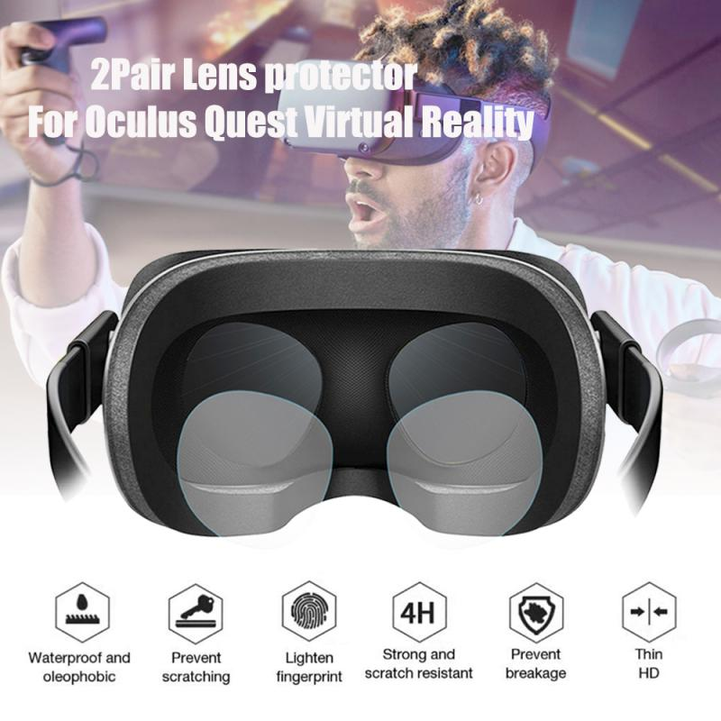 2 Pair TPU Soft Film, Lens Protector HD Clear Film Dust-proof For Oculus Quest Oculus Rift S Oculus Go Anti-sweat